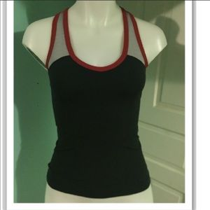 Lululemon red and black tank
